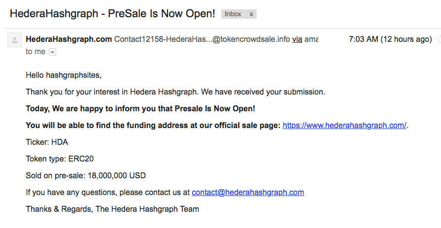 Scammers revolving around Hedera hashgraph exposed