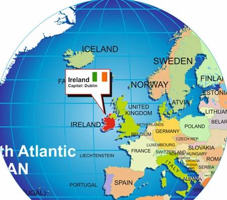 İrlanda'nin Haritadaki Yerini burada gorebilirsiniz