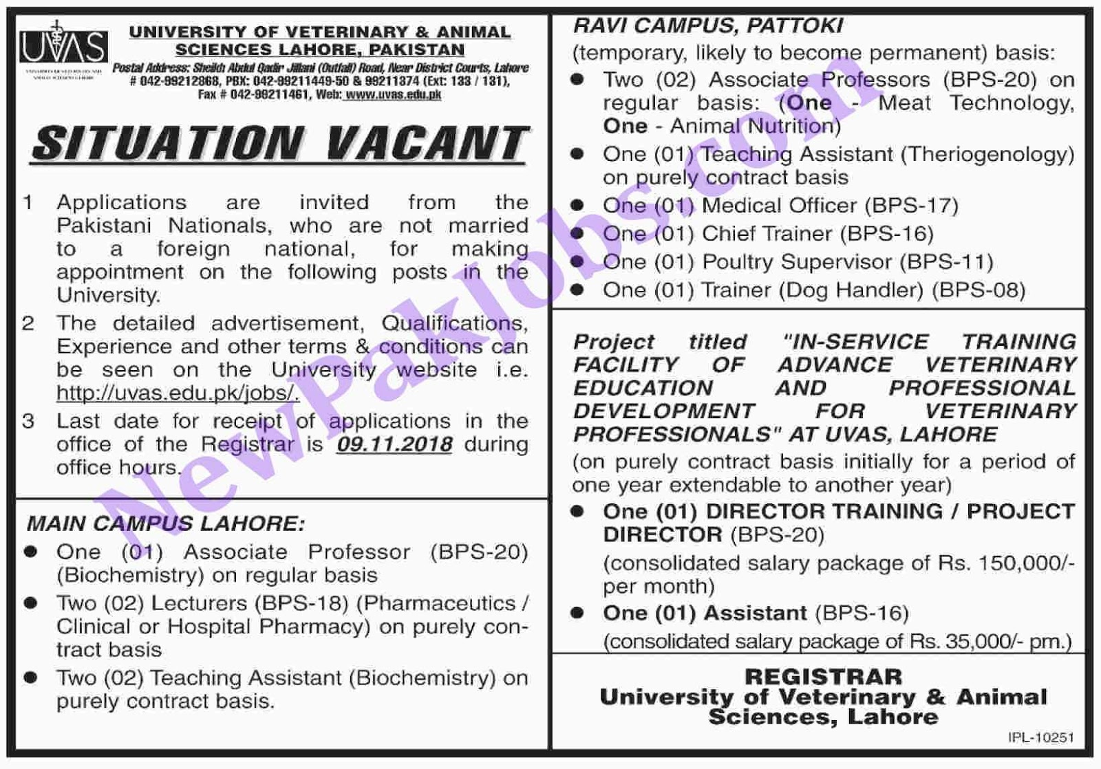 UVAS-20-Oct-2018-Jobs