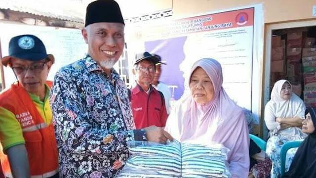 Banjir Bandang di Agam, Wali Kota Padang Turun Beri Bantuan
