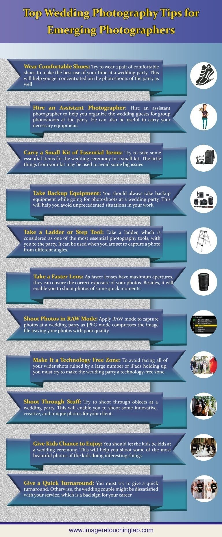 Top Wedding Photography Tips for Emerging Photographers #infographic