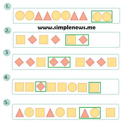 Tentukan bentuk bangun datar selanjutnya sesuai dengan pola-pola berikut www.simplenews.me