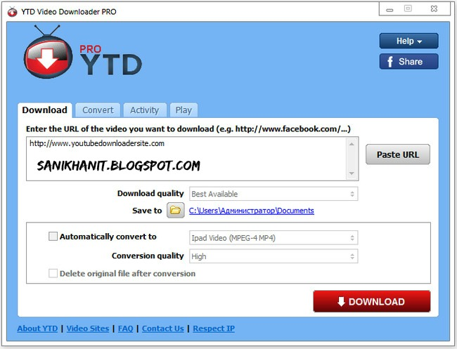 Ytd video downloader pro 583 patch latest version sanikhanit youtube downloader allows you to download videos from youtube including hd and hq videos facebook vevo and dozens of other video sites and convert them ccuart Choice Image
