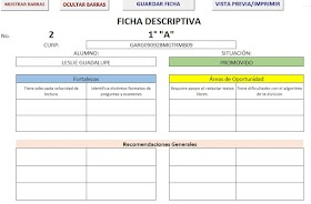 Generador de fichas descriptivas del alumno