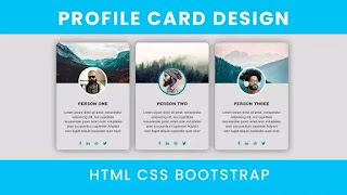 Profile Card Design using Bootstrap
