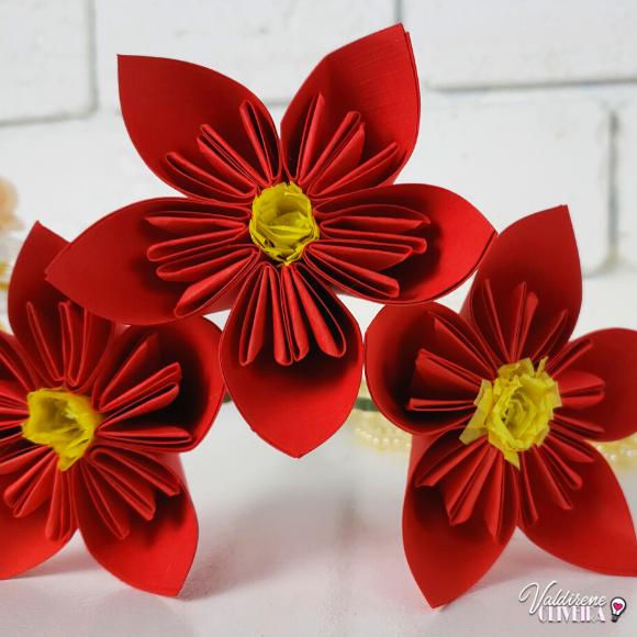 Diy -flor de origami simples