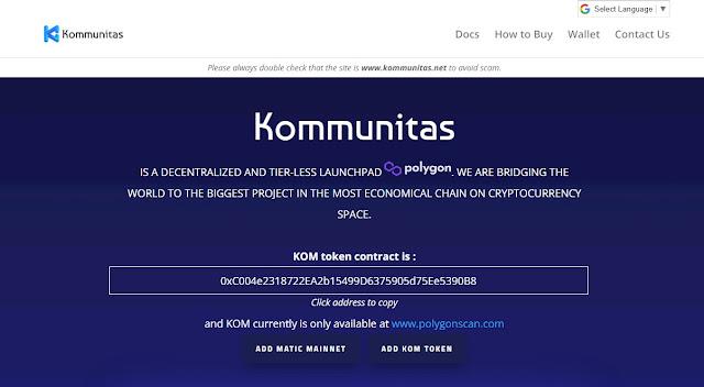 Website Kommunitas (KOM)