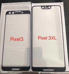 Google Pixel 3 XL will sport a notch according to leaked photo of screen protectors