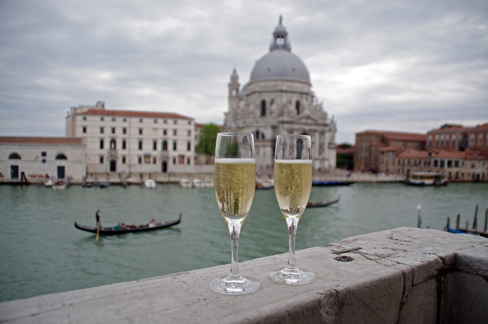 Prosecco on balcony at Westin Europa & Regina Venice