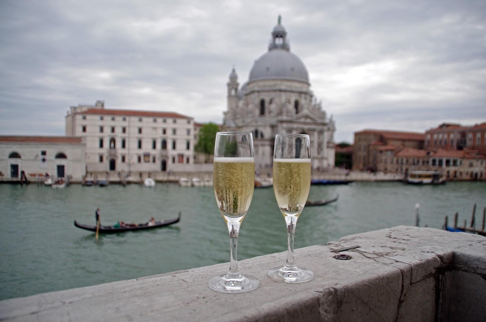 Prosecco on balcony at Westin Europa & Regina Venice