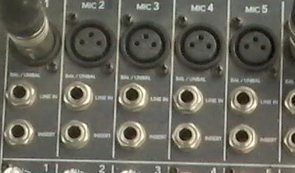 CH Insert Jack pada Mixer