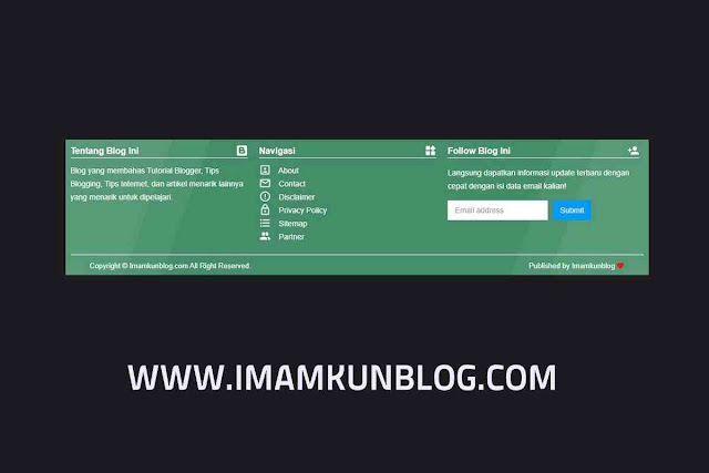Cara Membuat Widget Footer 3 Kolom Responsive di Blogger