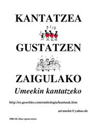kantatzea gustatzen zaigulako