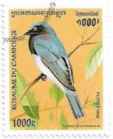 Selo Papa-moscas-azul-e-branco