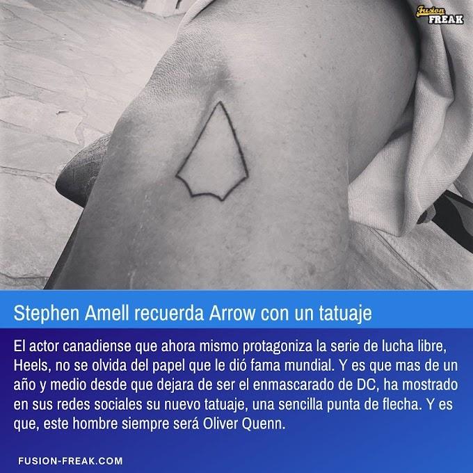 Stephen Amell recuerda Arrow con un tatuaje