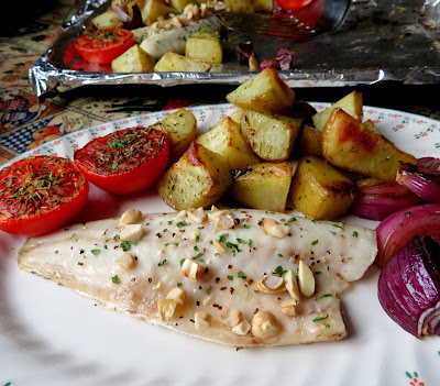 Sheet Pan Roasted Sea Bass Dinner for Two