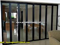Pintu Kaca Lipat Aluminium Untuk Menghemat Ruang