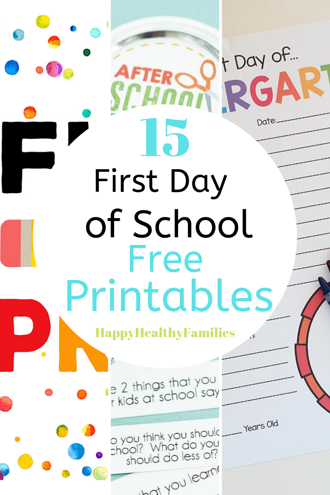 Happy Healthy Families 15 Free Back To School Printables