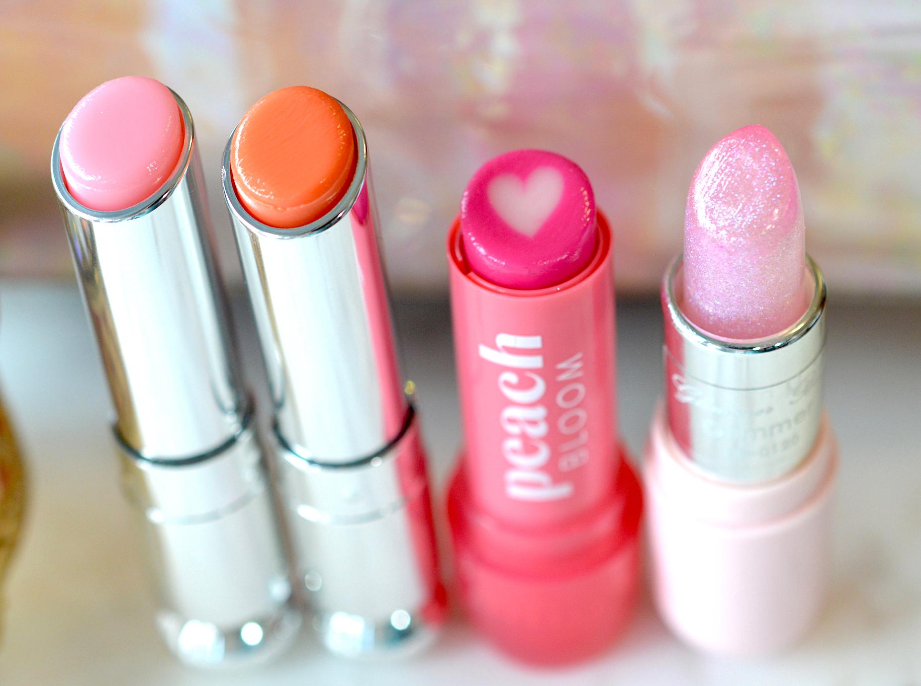 Glossy Pink Lip Balm Comparison