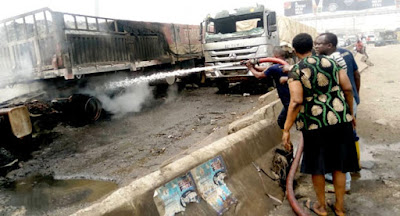 PHOTOS:Truck Set ablaze causes fatal accident which claimed 7 lives and others injured in Ogun