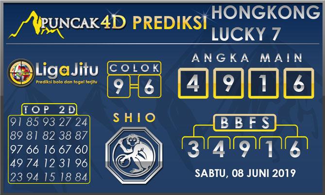 PREDIKSI TOGEL HONGKONG LUCKY7 PUNCAK4D 08 JUNI 2019