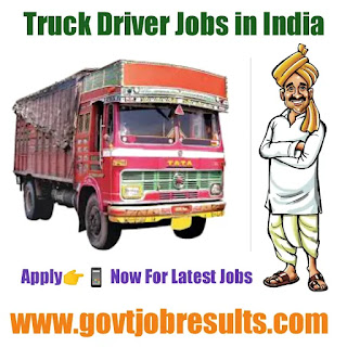 Truck Driver Jobs in India