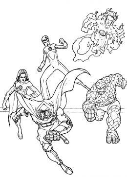 coloring pages fantastic four | Fantastic Four ( 4 ) Cartoon Kids Coloring Part 2 | choosboox