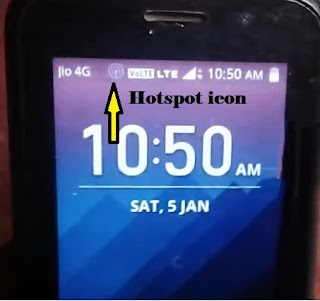 enable jio phone hotspot