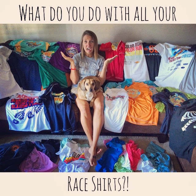 What do you do with all of your race shirts?