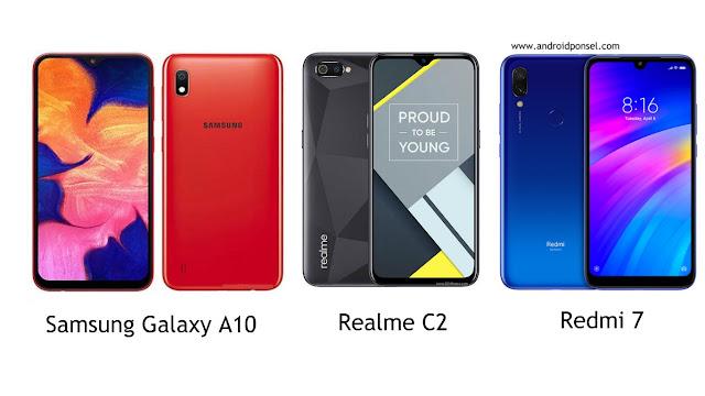 Perbandingan Spesifikasi Samsung Galaxy A10 VS Realme C2 VS Redmi 7, Mana yang Terbaik?