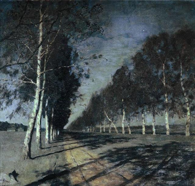 Исаак Ильич Левитан - Лунная ночь. Большая дорога. 1897-1898