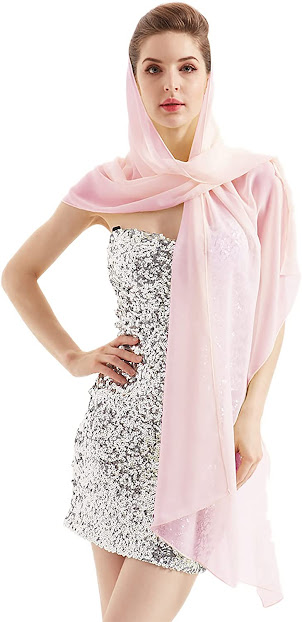 Pink Chiffon Scarf Hijab