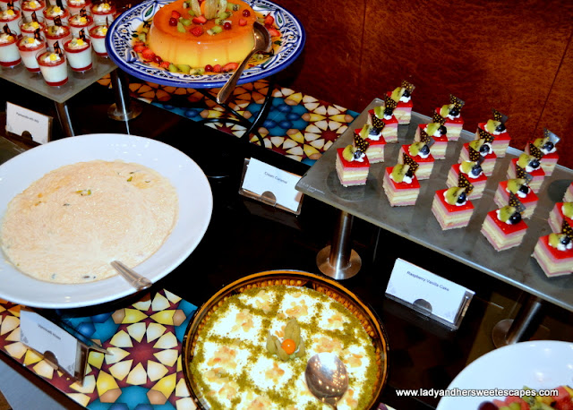 desserts at Dusit Thani Iftar