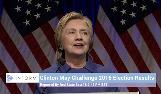 Hillary Clinton mulls challenging legitimacy of 2016 election, cites Russian influence