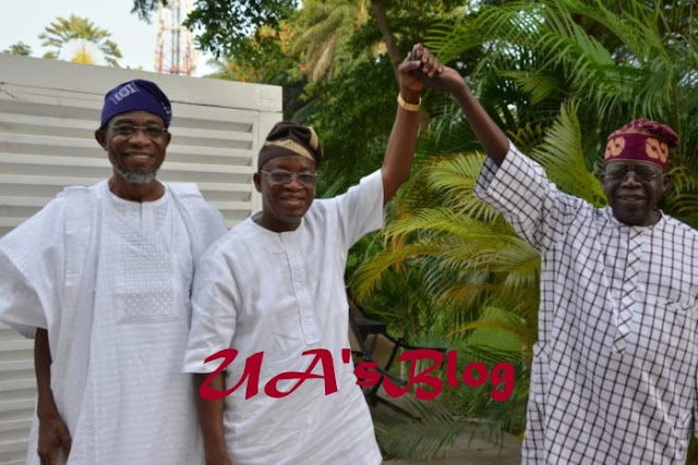 Tinubu Celebrates With Governor-Elect, Oyetola In Ikoyi After His Election Victory (Photos)