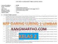 RPP DARING LURING 1 LEMBAR KELAS 2 SEMESTER 1 DAN 2