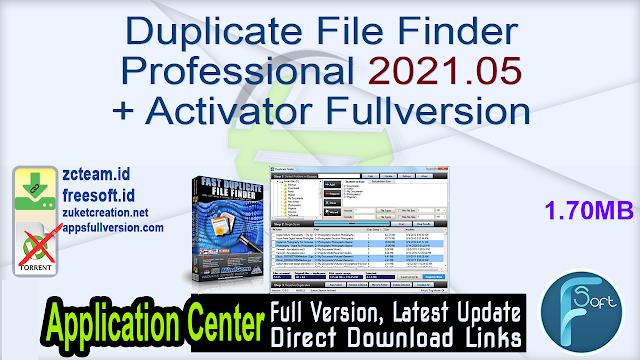 Duplicate File Finder Professional 2021.05 + Activator Fullversion