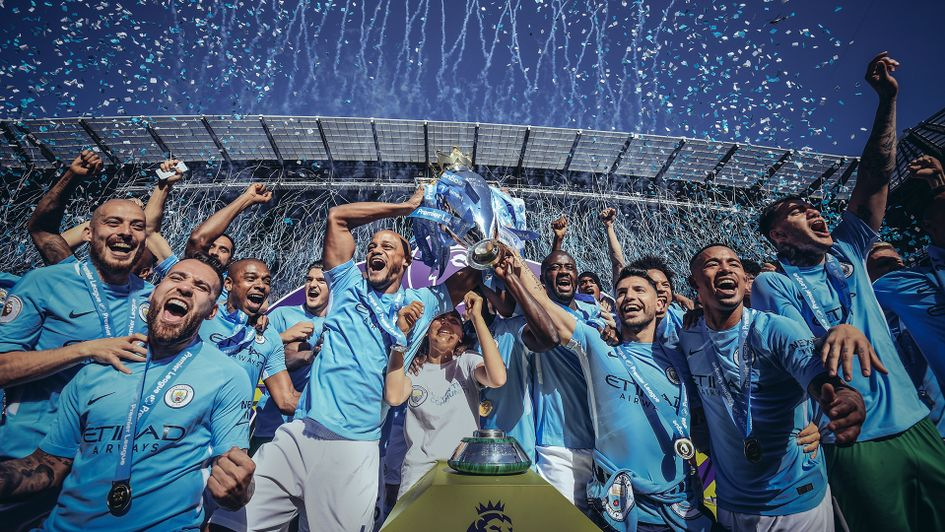 premier league champions man city squad 207/18