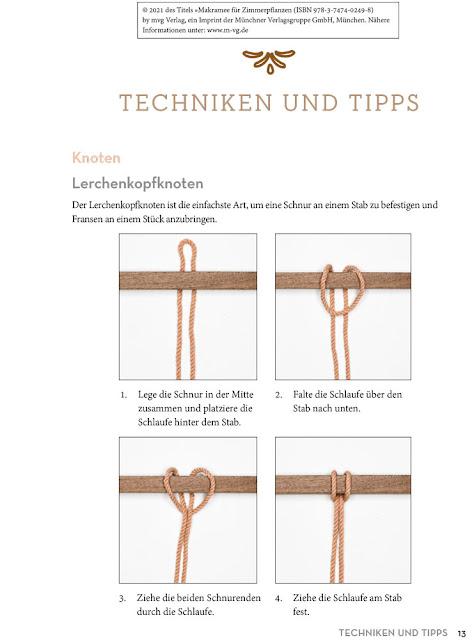 Makramee Lerchenkopfknoten