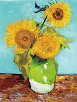 van Gogh – Sunflowers, 1 in a series