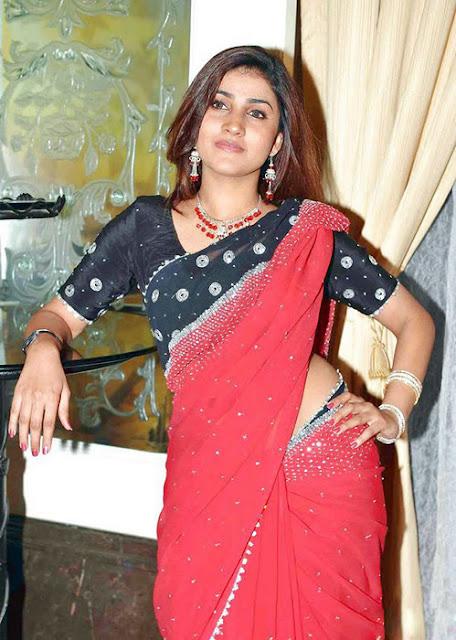 Telugu Actress Kausha Stills In Saree Navel Queens