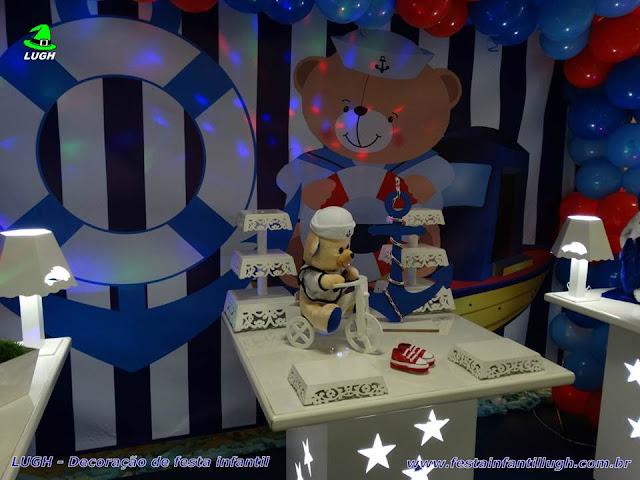Ornamentação de festa Ursinho Marinheiro