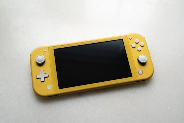 A yellow Nintendo Switch Lite