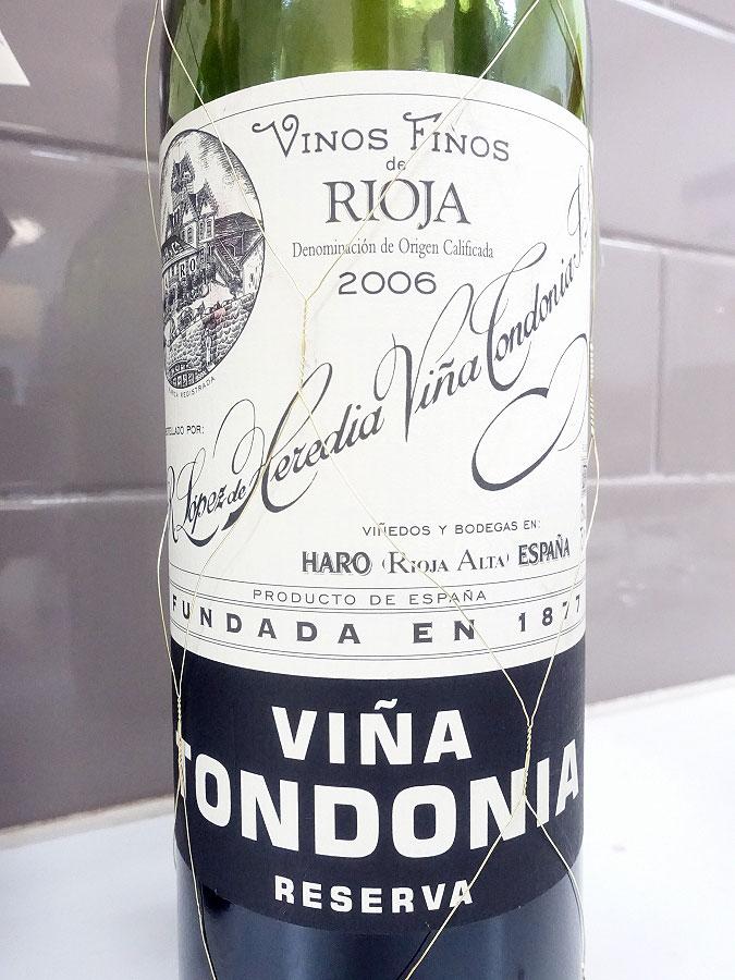 R. Lopez de Heredia Viña Tondonia Reserva 2006 (93 pts)