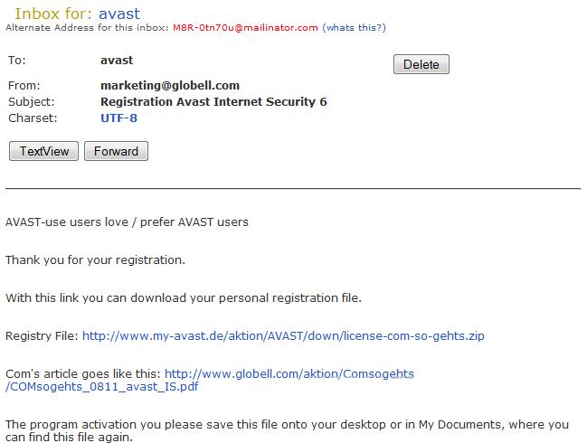 Bhabesh's Blog: Free Avast Internet Security 6.0 License ...