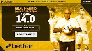 betfair supercuota Real Madrid gana a Deportivo 21 enero