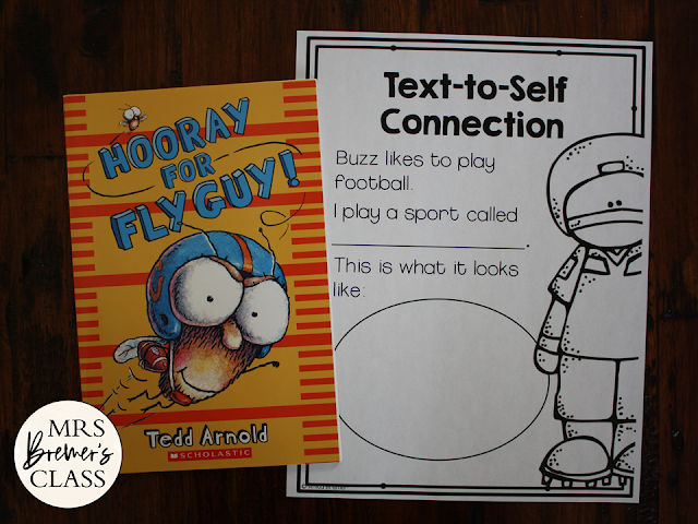 Hooray for Fly Guy book study companion literacy activities unit for first and second grade