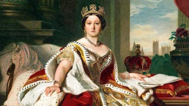 لوحة تجسد الملكة فكتوريا