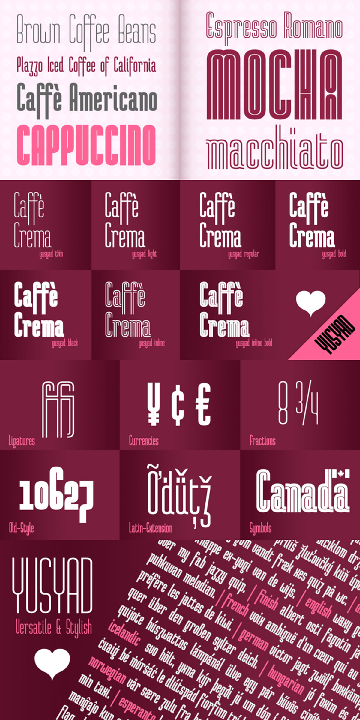 Yusyad Font Family Free Download
