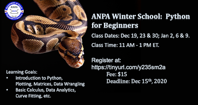 ANPA Winter School on Introductory Python